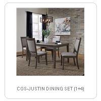 COS-JUSTIN DINING SET (1+4)